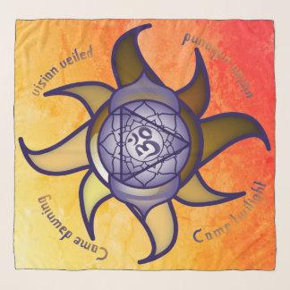 """Écharpe de Lotus d'analyse de yoga de """"troisième"""