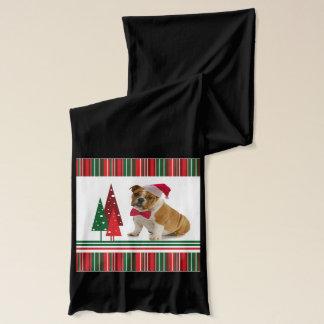 Écharpe de Noël de bouledogue