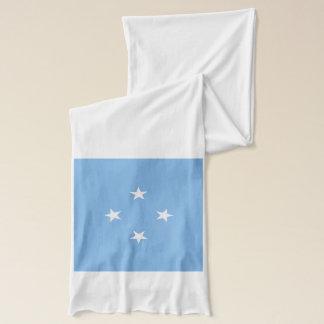 Écharpe de poids léger de drapeau de la Micronésie