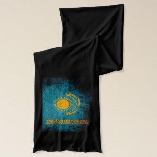 Écharpe Drapeau grunge noir de Kazakhstan