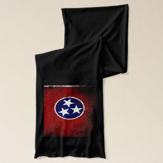 Écharpe Drapeau grunge noir d'état du Tennessee