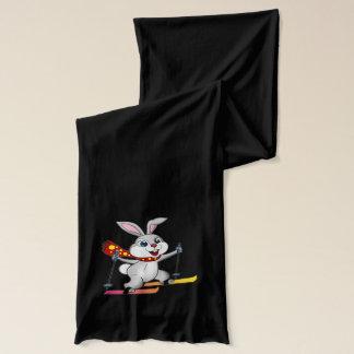 Écharpe drôle et mignonne de lapin de ski -