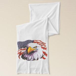 3f4992dc0e55 Écharpe Eagle chauve avec une larme - drapeau des