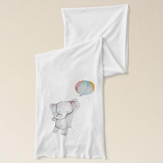 Écharpe Éléphant de bébé avec l'écharpe de ballon