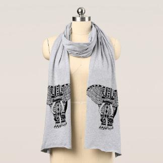 Écharpe Éléphant modelé par tribal de Bohème à la mode