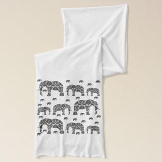 Écharpe Enveloppe d'écharpe de concepteur d'éléphants de