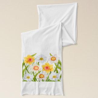 Écharpe florale de jonquilles de ressort