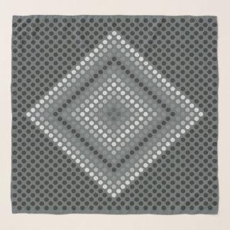 Écharpe foncée de Chifon de diamant