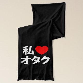 Écharpe I geek de Japonais de ~ d'Otaku de coeur [amour]