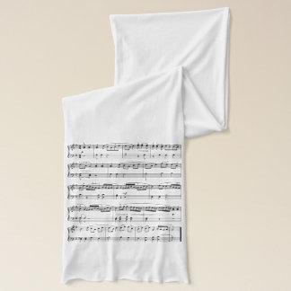 Écharpe illustration musicale de mode