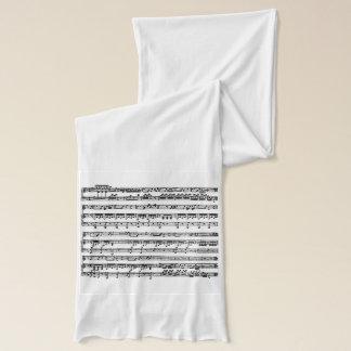 Écharpe Illustration musicale sur l'écharpe