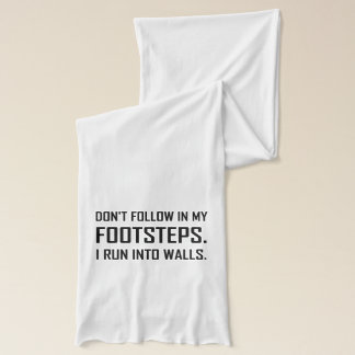 Écharpe Je cours dans des murs drôles