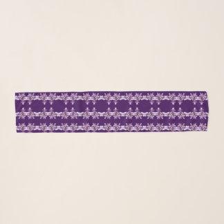 Écharpe lilas pourpre florale de mousseline de