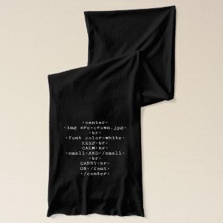 Écharpe Maintenez calme et continuez le HTML (dans toute