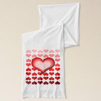 Écharpe Motif de coeurs de Saint-Valentin