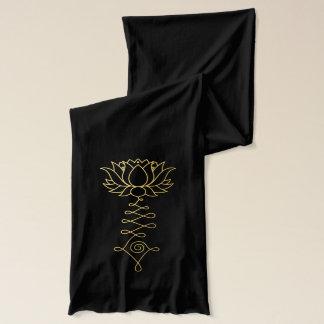 Écharpe noire d'or de Lotus Jersey