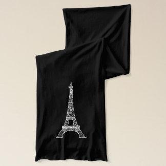 Écharpe Paris personnalisable Eiffel Tower_Black