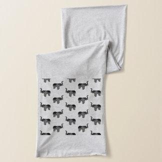 Écharpe Petit motif gris d'éléphant