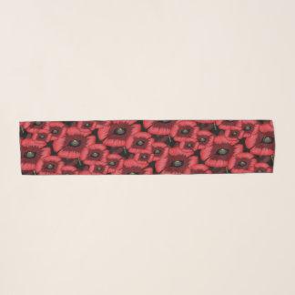 Écharpe rouge audacieuse de pavot de Posterized