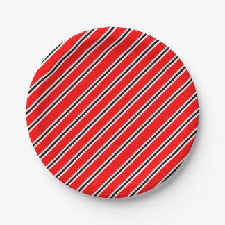 Écharpe rouge de barre du football de Manchester Assiettes En Papier