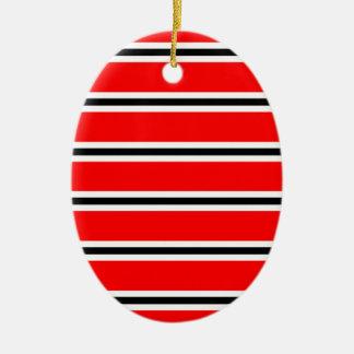Écharpe rouge de barre du football de Manchester Ornement Ovale En Céramique