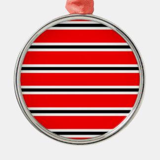 Écharpe rouge de barre du football de Manchester Ornement Rond Argenté