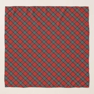 Écharpe rouge de Chifon de tartan