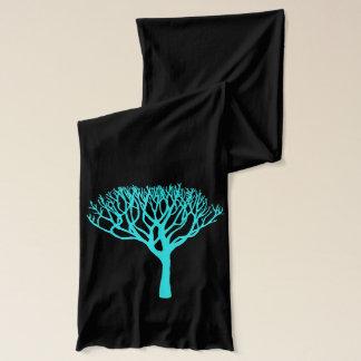 Écharpe Silhouette d'arbre d'Aqua de mod