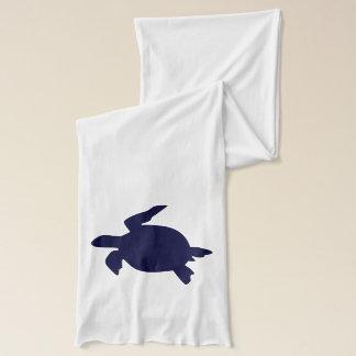 Écharpe Tortue de mer bleu-foncé