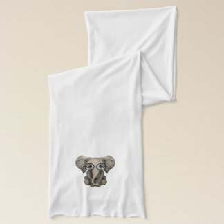 Écharpe Veau mignon d'éléphant de bébé avec des verres de