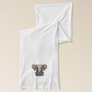 Écharpe Veau mignon d'éléphant de bébé s'asseyant