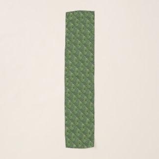 Écharpe verte de mousseline de soie de motif