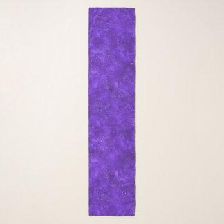 Écharpe violette de mousseline de soie de galaxie