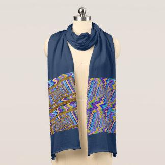 Écharpe vortex multicolore sur l'écharpe du Jersey de
