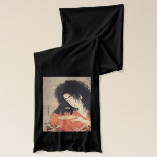 Écharpes japonaises de l'art d'Utamaro