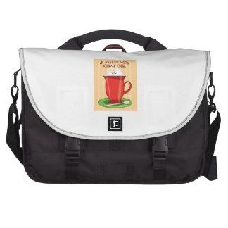 Échauffement avec l acclamation de vacances sac pour ordinateur portable