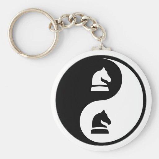Échecs de Yin Yang Porte-clefs