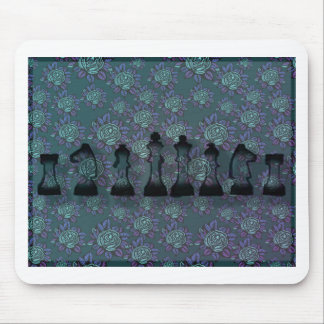 Échecs floraux tapis de souris
