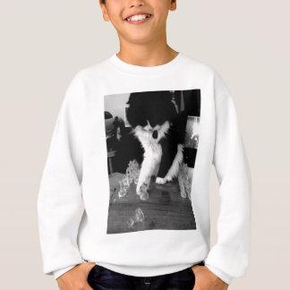 échecs jouant le chat sweatshirt