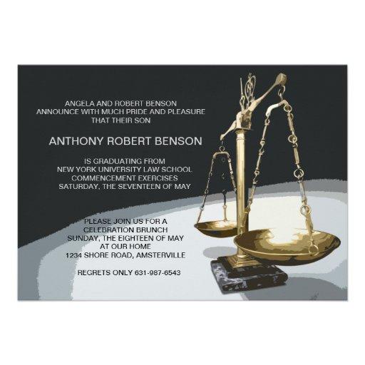 Échelle d'or de justice, obtention du diplôme Invi Invitations Personnalisables