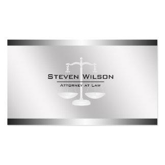 Échelle juridique en acier blanche et argentée carte de visite standard