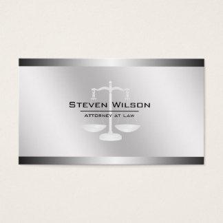 Échelle juridique en acier blanche et argentée cartes de visite