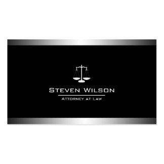 Échelle juridique noire et blanche d'avocat carte de visite standard