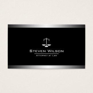 Échelle juridique noire et blanche d'avocat cartes de visite