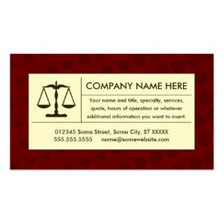 Cartes de visite pour avocats