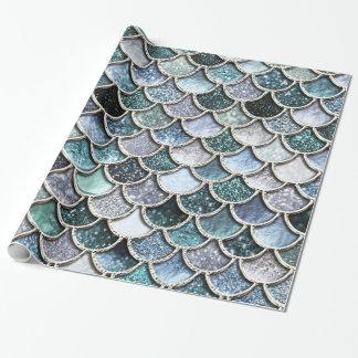 Échelles argentées de Mermaidscales de Papiers Cadeaux