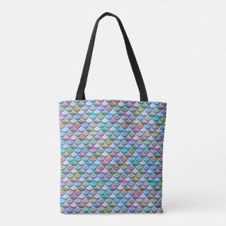 Échelles colorées perlées brillantes brillantes de sac