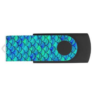 Échelles de bleu d'Aqua de Falln Clé USB 3.0 Swivel