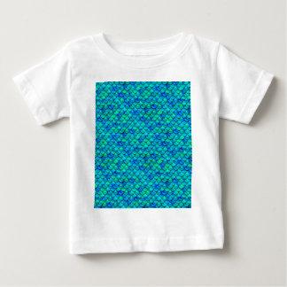 Échelles de bleu d'Aqua T-shirt Pour Bébé