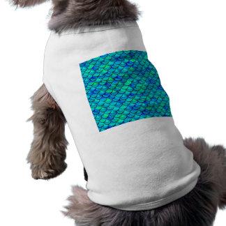 Échelles de bleu d'Aqua T-shirt Pour Chien